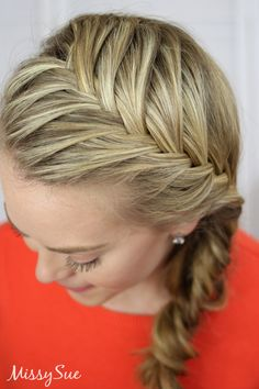 Fishtail French Braid (Video Tutorial & Written Instructions in link!)