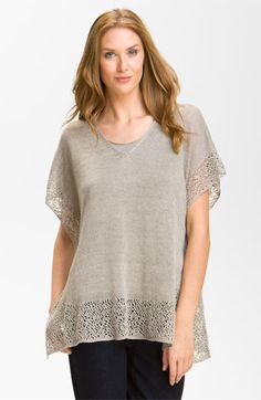 Eileen Fisher Lace Trim Jersey Tunic available at #Nordstrom