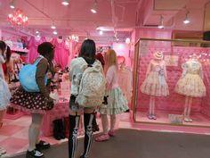 Angelic Pretty, Putumayo, Atelier Pierrot, Fairy Kei, Lolitas, Nu Goths...  These Laforet Harajuku store photos will blow your mind! ♥   http://www.lacarmina.com/blog/2013/08/laforet-tokyo-visual-kei-jrock-shop-fairy-kei-harajuku/   laforet angelic pretty, sweet lolitas, harajuku girls