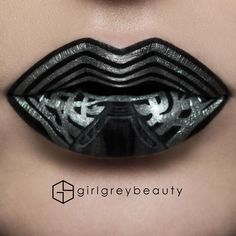 Makeup Artist Paints Her Pucker to Turn Her Lips into Mesmerizing Works of Art - Lip Art - Lip Art, Lipstick Art, Lipstick Colors, Lip Colors, Lipsticks, Grey Lipstick, Liquid Lipstick, Bright Lipstick, Lipstick Dupes