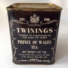 Twinings Tea Tin by HouseOfHalo on Etsy, $9.95
