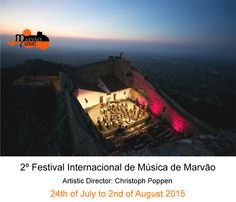 Marvão International Music Festival 2015 - 10 days -  will feature a varied programme conducted by famous German conductor Christoph Poppen, Artistic Director   #Marvao #Alentejo #Portugal #travel #hotel #BoutiqueHotelPoejo #music #classicmusic #festivals