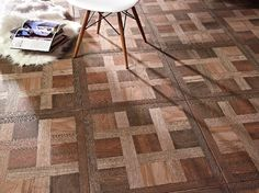 No its not wood. From Tile of Spain