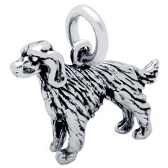 -.925 Sterling silver, Nickel-free -Plain silverIrish setter dog charm -SilverForte.com guarantees our Sterling silver merchandise is 925 Sterling This product is proudly made in the U.S.A.