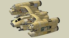 Hun super heavy attack ship. Specs:- Crew 4, Pilot, WSO, Navigator and Engineer/rear gunner. It is armed with 2 x 80mm 8 barrelled Gatling cannon, 2 x 400mm Plasma Bombard guns, 4 x Crystal Laser, ...
