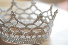 Ravelry: Royal Crown pattern by Lotta Breyer - The pattern is written for a 46 cm or 18 inch circumference, but can be adjusted by adding/subtracting a pattern repeat (12 s) or by adjusting yarn and/or hook size. The crown can of course be embellished with beads to make it even more royal.