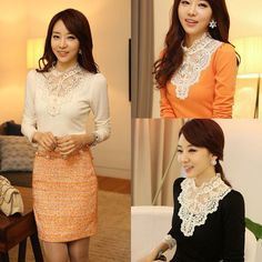 New Women Fashion Vintage Fit Lace Tops Button Down Shirt Embroidery Blouse UK #Unbranded #Blouse