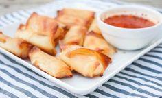 Baked-Mozzarella-Wonton-Bites, mozzarella in wonton wrappers, healthy fair food Recipe here: http://www.sweetphi.com/baked-mozzarella-wonton-bites-made-pick-n-save-ingredients/ #MyPicknSave #shop