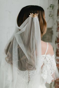 SIBYLL tulle vintage style draped wedding by EmmaKatzkaBridal