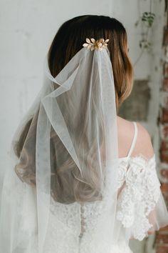 SIBYLL tulle vintage style draped wedding by EmmaKatzkaBridal