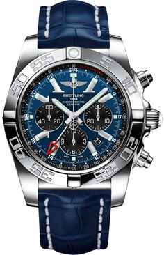AB041012/C835-747P BRAND NEW Breitling Chronomat GMT Mens Blue COSC Chronograph Watch - Lowest Price Guaranteed 100% Authentic FREE Overnight Shipping