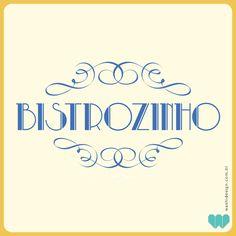 Logo Bistrozinho para festa retrô | WASHI Design