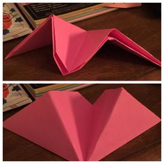 """Origami """"noisemaker"""" which looks like a paper airplane."""