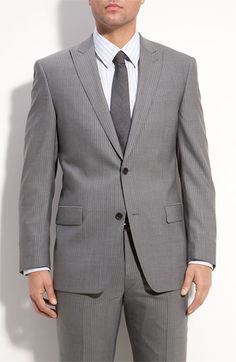 John Varvatos Star USA 'Bowery' Deco Stripe Wool Suit   Nordstrom