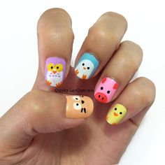 Cute idea for fun - Animals Nails
