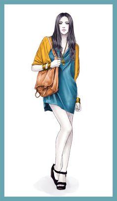 Lanidor fashion illustration  All digital.  2012