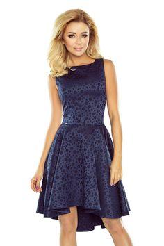 Exclusive Navy Blue Asymmetrical Skirts Sleeveless Longer Back Mini Dress Trendy Fashion, Womens Fashion, Asymmetrical Skirt, Navy Blue Dresses, Women's Fashion Dresses, Fashion Company, Dress Making, Clothes For Women, Formal Dresses