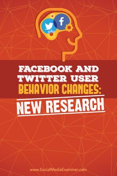 research on changes in twitter and facebook user behavior