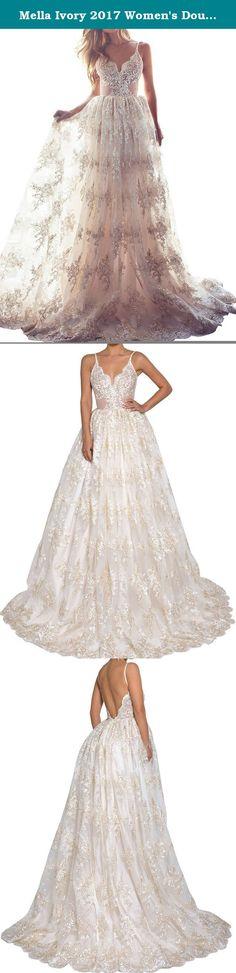Elley Womens Jewel Neckline Lace Applique Long Sleeves A Line Wedding Dress