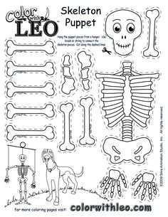 Preschool Crafts for Kids*: Halloween Q-tip Skeleton Craft - ages it was a… Halloween Crafts For Kids, Halloween Activities, Holidays Halloween, Halloween Themes, Kids Crafts, Halloween Halloween, Skeleton Puppet, Skeleton Craft, Skeleton Girl