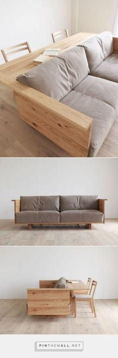 couch with bar attach behind it. so great for a man cave or basement family room. by susangir