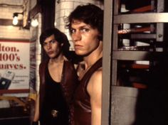 The Warriors, production photo. Ajax (James Remar) and Swan (Michael Beck).