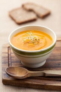 Pumpkin Soup Recipe | Making this tonight but adding 2 cups of grated apples with the onion.  Love the creamy flavor.