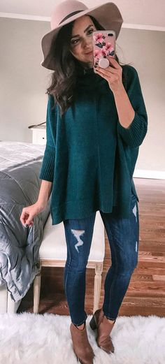 bc220234f5  fall  outfits green sweater Green Sweater Outfit