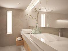 ideas for bathroom beige white modern master bath Taupe Bathroom, Serene Bathroom, Bathroom Colors, Bathroom Faucets, Bathroom Interior, Modern Bathroom, Master Bathroom, Minimalist Home Decor, Minimalist Bathroom