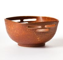 Orange Square Rimmed Bowl