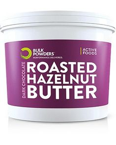 Looking for a healthy alternative to Nutella®? Well, you might just have found it!  BULK POWDERS™ Dark Chocolate Roasted Hazelnut Butter contains absolutely no additives or preservatives and is packed with good fats as well as containing 15g protein per 100g and only 6g carbohydrate and 3.7g sugar per 100g.  A versatile product that can be enjoyed on its own, as a spread, or even added to other shakes to increase the calorie content and improve taste.