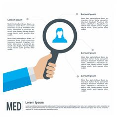 Infographic Template with Loupe Free Vector