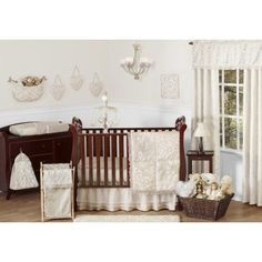 11pc Crib Bedding Set for the Victoria Collection by Sweet Jojo Designs, Beige