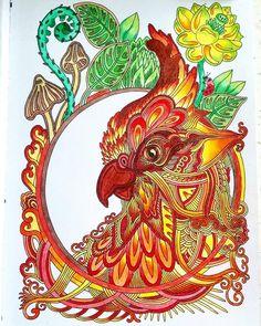 На фото- раскраска «Ветер уносит цветы» от@tarhen.  Выходные почти начались! И пусть птица счастья вам улыбается! 😊 Colouring, Adult Coloring, Coloring Books, Coloring Pages, Bird Pictures, Farm Animals, Russia, Sketches, Fantasy