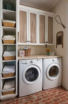 Farmhouse Laundry Room by M. Barnes & Co | Smelly Towels? | Stinky Laundry?| Washer Odor? | http://WasherFan.com | Permanently Eliminate or Prevent Washer & Laundry Odor with Washer Fan™ Breeze™ |#Laundry #WasherOdor#SWS