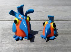 Daddy and Me - Polymer Clay Bird Figurines or Decorations. $15.00, via Etsy.