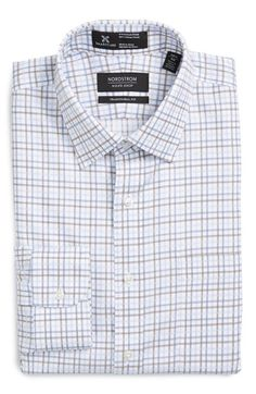 Nordstrom Men's Shop Nordstrom Men's Shop Smartcare™ Traditional Fit Plaid Dress Shirt available at #Nordstrom