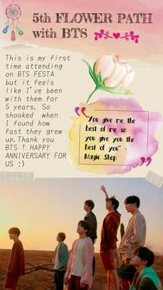 5 th flower path with bts