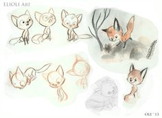 How To Draw Fox Cartoon Character Design References 19 Ideas For 2019 Fox Illustration, Illustrations, Animal Drawings, Art Drawings, Fox Drawing, Fox Art, Animal Design, Fox Design, Kawaii