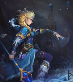 Crystal Maiden by haryarti (Elsa crossover)