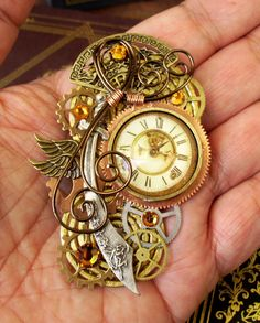 Steampunk Pin or Pendant (P109) - Brooch - Persian/Oriental Design - Sword - Time Travel - Mothers Day Gift by DesignsByFriston SoldPin109 (Modified Persia