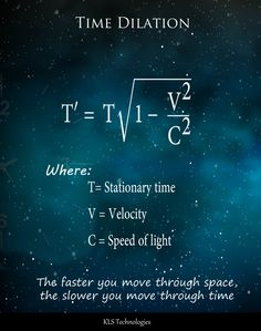 Science poster, Time dilation - Welcome My Home Theoretical Physics, Physics And Mathematics, Quantum Physics, Modern Physics, Physics Theories, Cool Science Facts, Science Trivia, Physics Formulas, Astronomy Facts