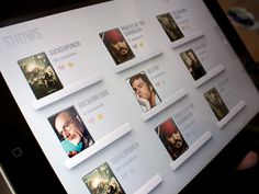 Tv Shows app design by Miguel Oliva Márquez. - Best Mobile Designers In The World Iphone Ui, Tablet Ui, Web Design, Ui Patterns, App Design Inspiration, Mobile Ui Design, User Interface Design, Interactive Design, Graphic