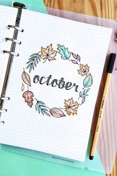 Best Bullet Journal Monthly Cover Ideas For October - Crazy Laura - - If you're looking for some new October monthly cover ideas to try in your bullet journal, then you need to check out these super fun and spooky spreads! Bullet Journal Cover Ideas, December Bullet Journal, March Bullet Journal, Bullet Journal Writing, Bullet Journal Banner, Bullet Journal Quotes, Bullet Journal Aesthetic, Journal Covers, Journal Pages