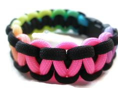 Neon And Black Paracord Survival Bracelet Neon by ACORDING2MACEY