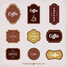 Coffee Stickers Pack Free Vector