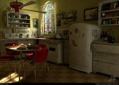 If I had a house of my own, this is what I would picture the kitchen to look like.