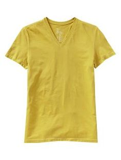 The essential deep V-neck T | Gap-blue, yellow scheme