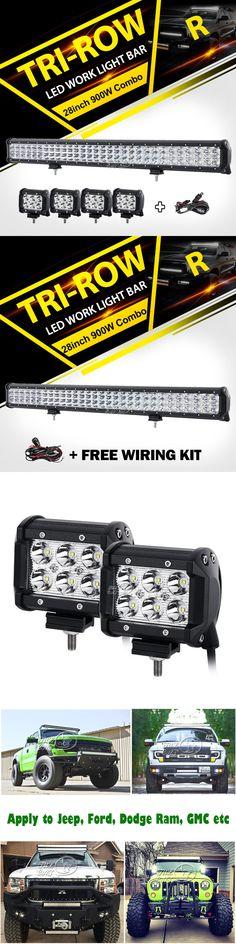 Car Lighting: Triple Rows 900W 28Inch+4X 18W Cree Led Light Bar Offroad Utv Polaris Rzr Xp1k -> BUY IT NOW ONLY: $89.5 on eBay!