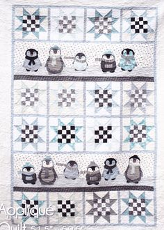cute Penguins quilt pattern by Northern Quilts (Norway) seen at Millthorpe Armadillo